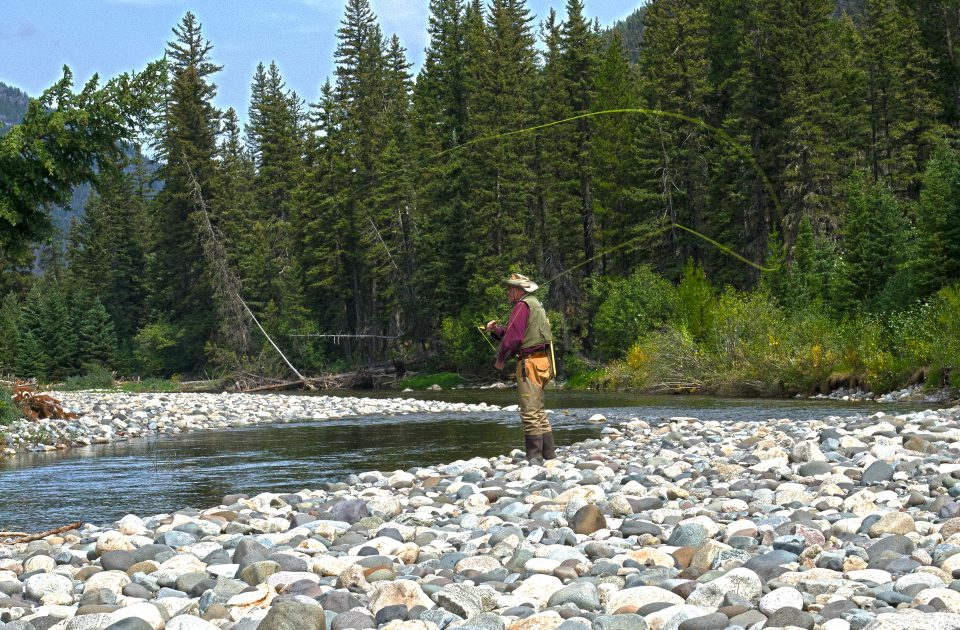 Fly fishing is just one of the activities for guests