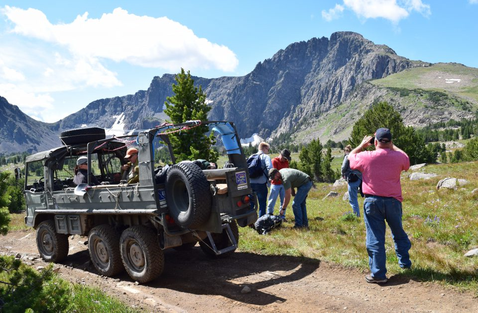 The Pinzgauer offers a unique ride in the wilderness