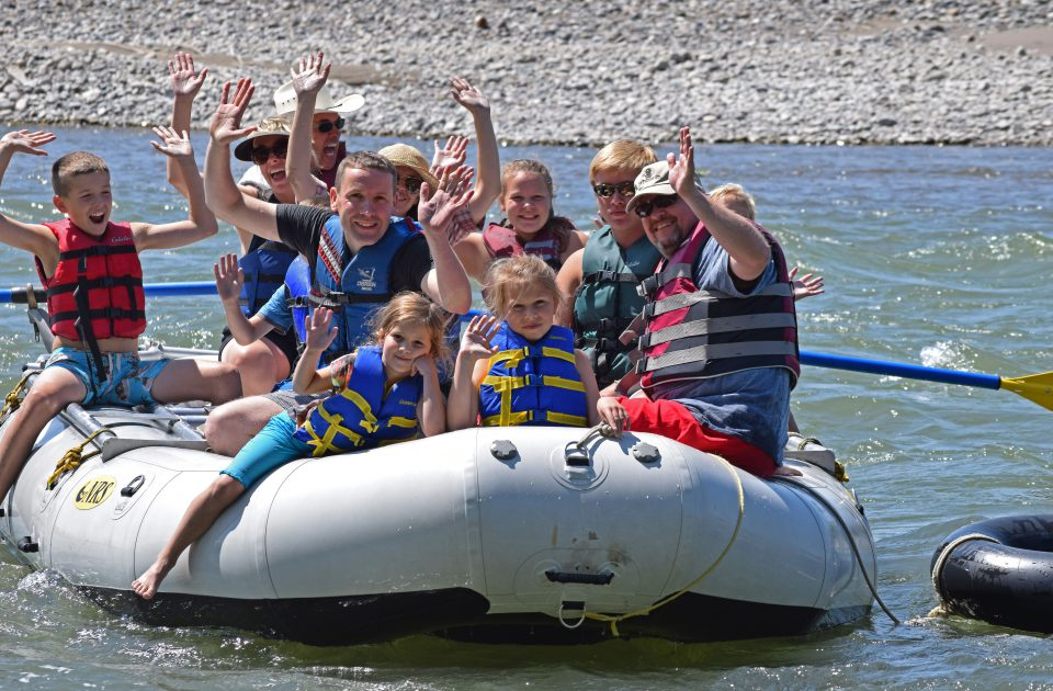 Whitewater rafting near Yellowstone National Park