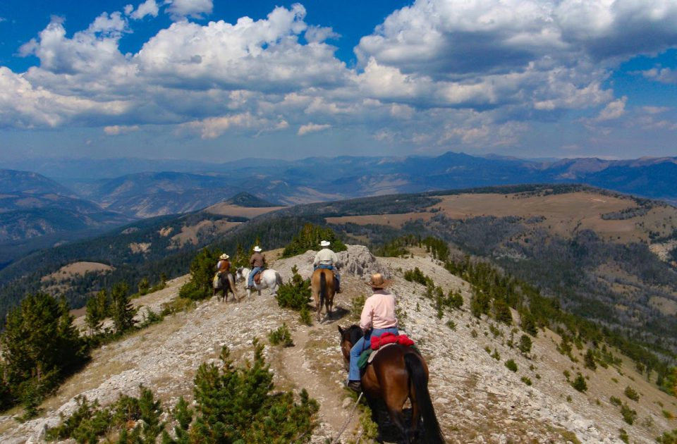 Horseback riding near Yellowstone National Park