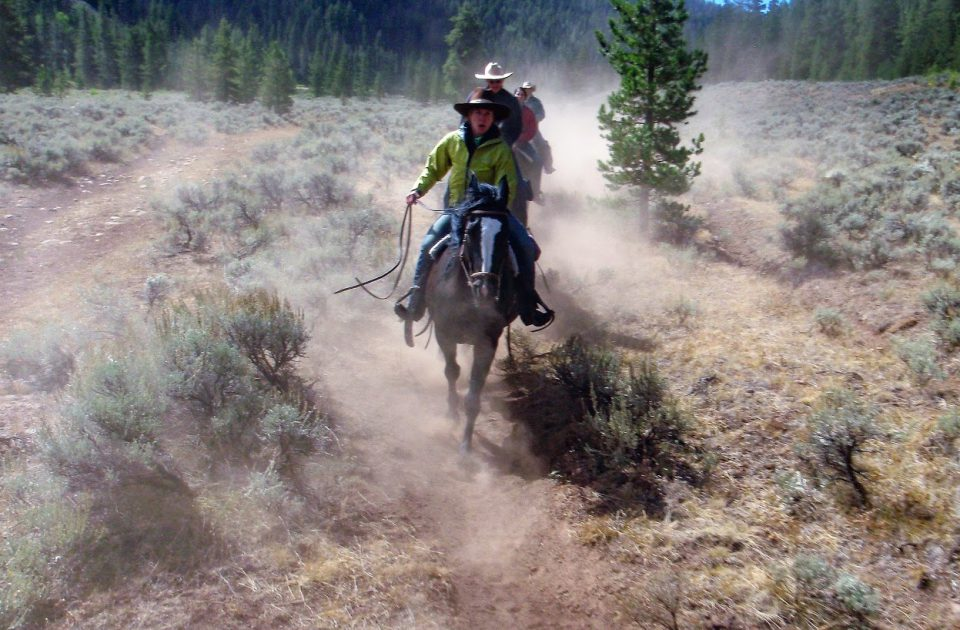 Horseback riding in big sky country