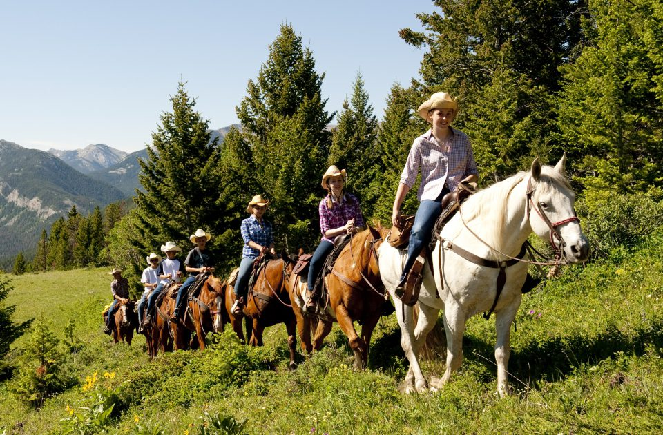 Trail rides are a dialy activitiy at the JJJ Wilderness Ranch