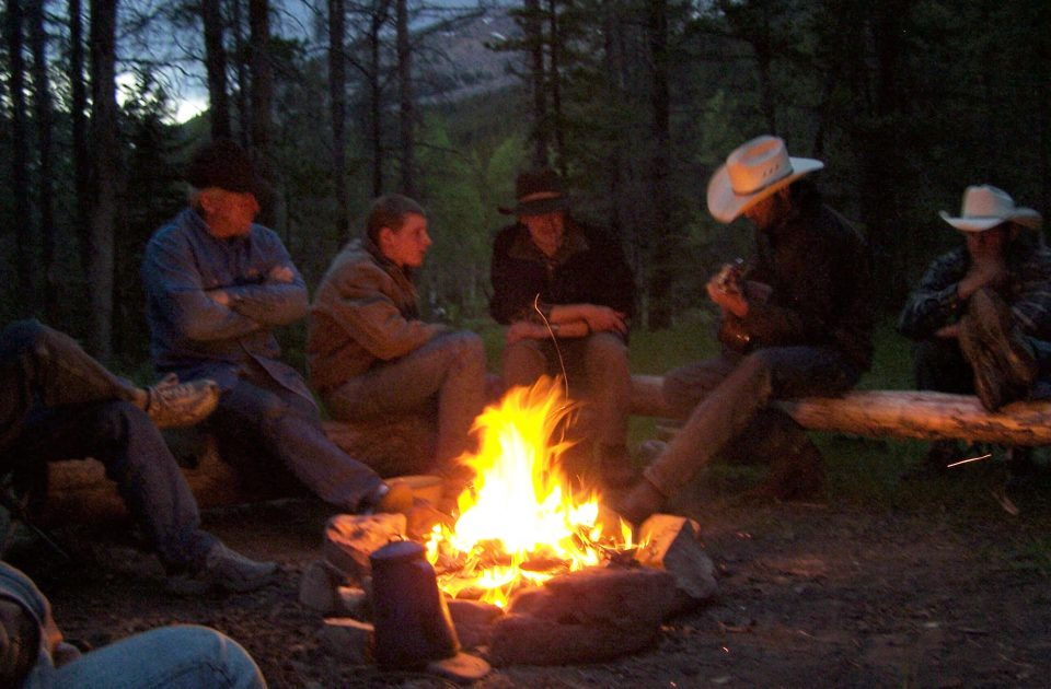 Campfires provide the perfect end to an evening on the ranch