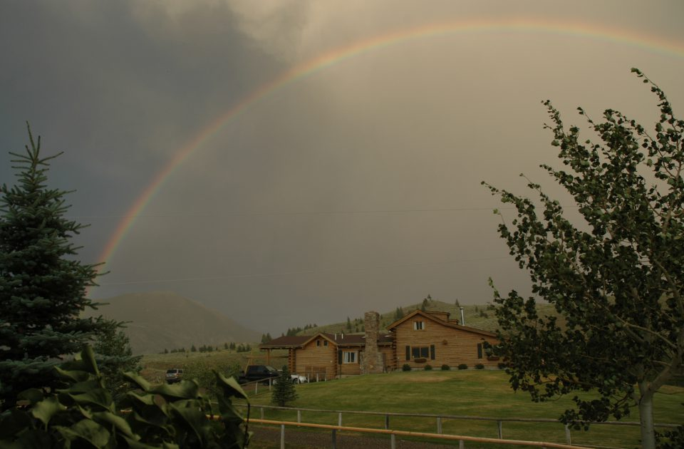 Rainbow over Hubbard's Six Quarter Circle | Dude Ranch Vacation