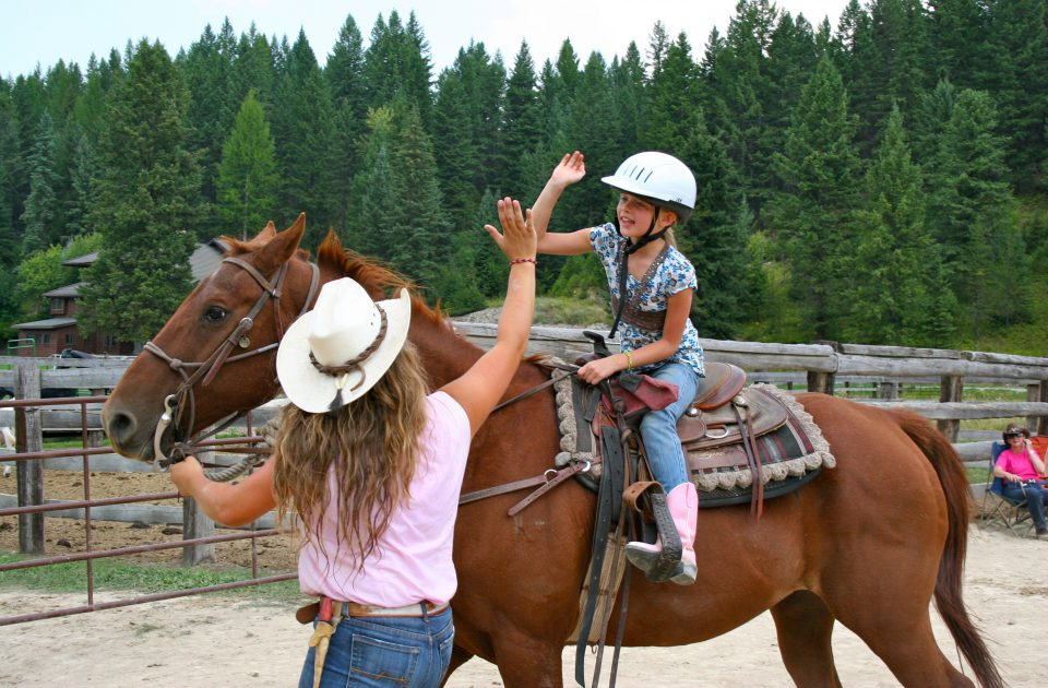 Horseback Riding Lessons on a Montana dude ranch