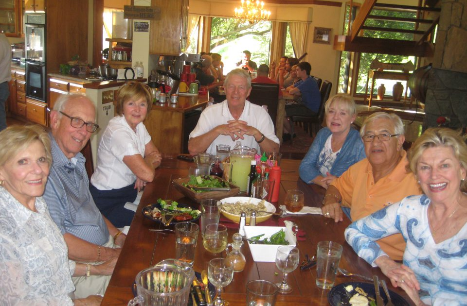 Enjoy a meal among friends at the Bar W Guest Ranch