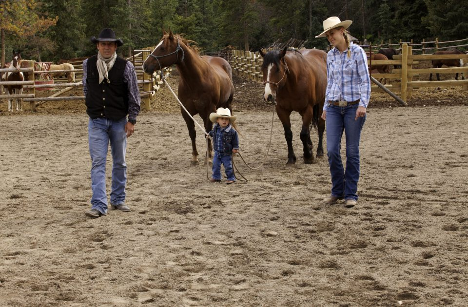 We teach horsemanship to guests of all ages