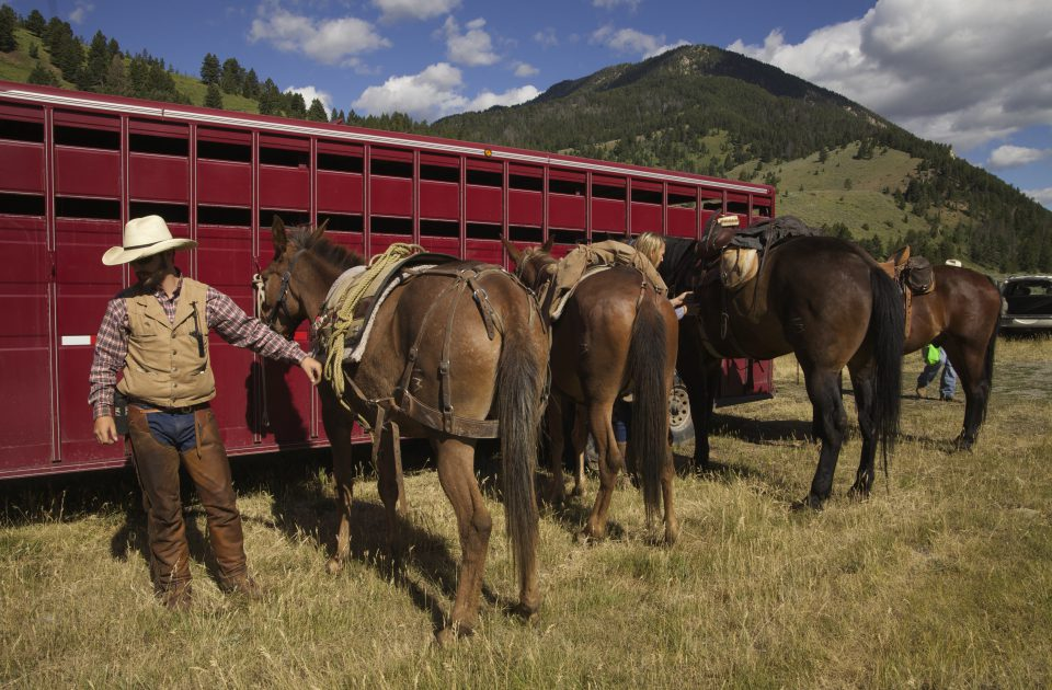 Trail rides are the primary activity at the Covered Wagon Ranch