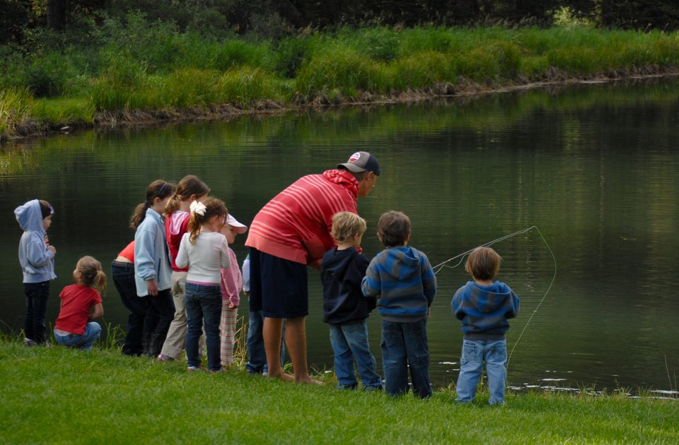 Fishing is just one activity as part of the ranches kids' program