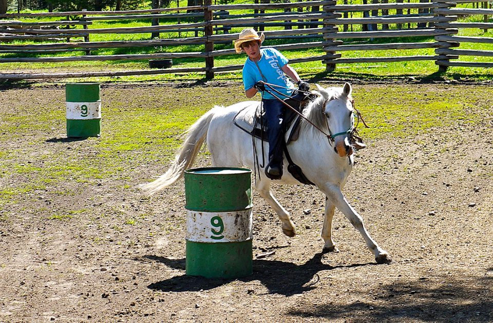 Barrel Racing at Nine Quarter Circle Ranch | Horsemanship