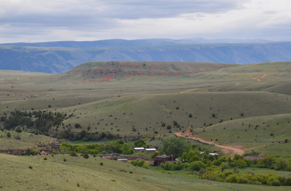 Overlooking the ranch on a horseback ride