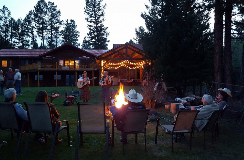 Gather around the Fire at Rich's Montana Guest Ranch