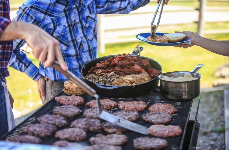 Western Style Cook Out on a Montana Resort Ranch