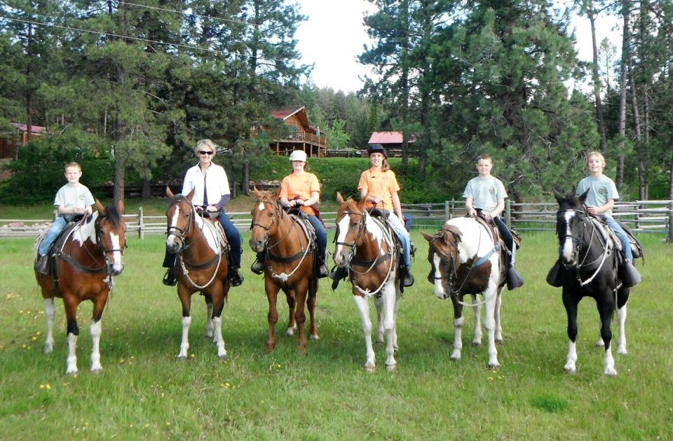Horseback riding on a Montana dude ranch