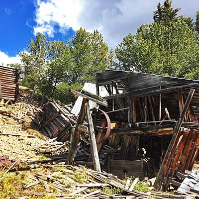 historic mining cabin near Blue Lake