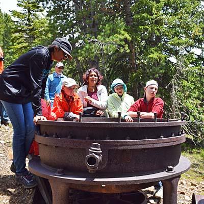 exploring historic mining equipment