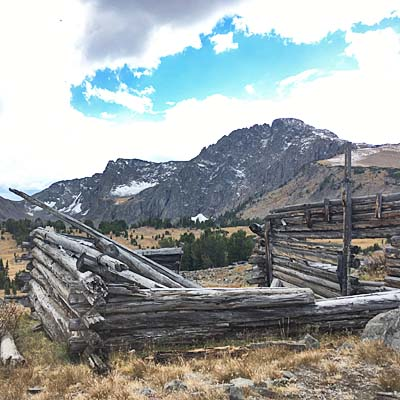 historic remains of in the Absaroka–Beartooth Wilderness