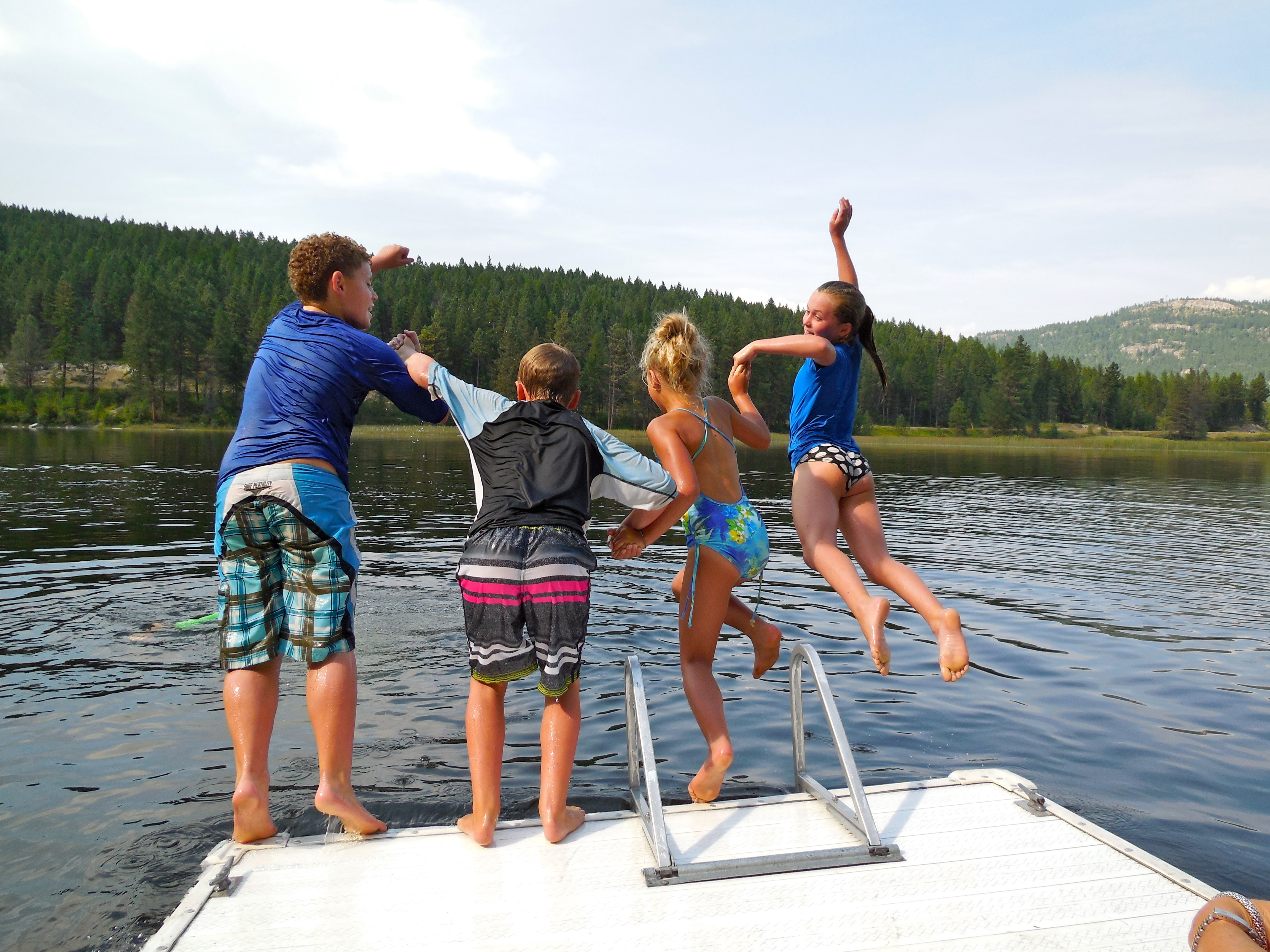 Summer days are defined by swimming in the refreshing waters of Montana