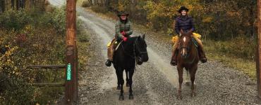 Montana Dude Ranch in Autumn