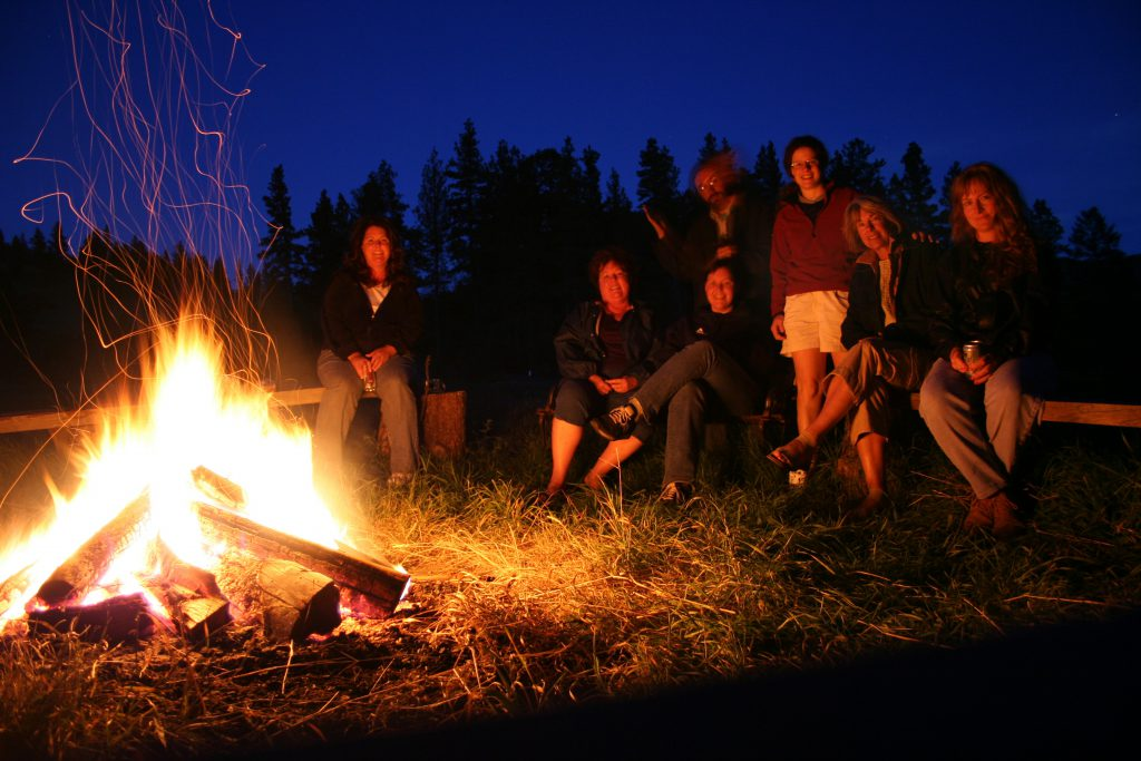 Friends Around a Campfire