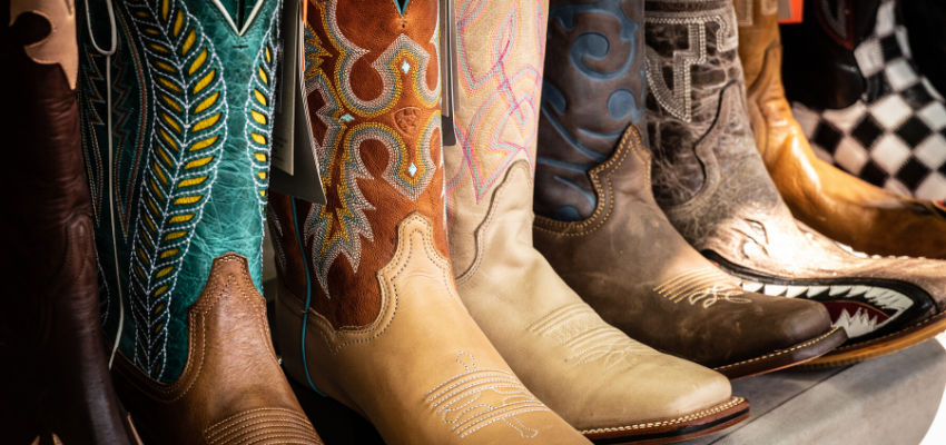 eleven pairs of new boots